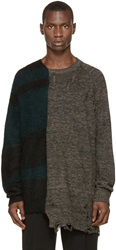 Miharayasuhiro Multicolor Dual Pattern Sweater