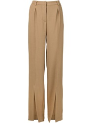 Off White Wide Leg Trousers Nude And Neutrals