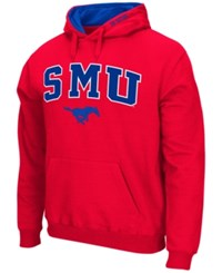 Colosseum Men's Southern Methodist Mustangs Arch Logo Hoodie Red