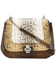 N 21 No21 Chain Strap Shoulder Bag Women Calf Leather One Size Nude Neutrals