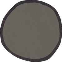 Nani Marquina Aros Round 2 Rug Small 3 Feet 3 Inches Dia Gray