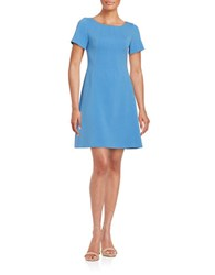 Vince Camuto Short Sleeve A Line Dress Periwinkle