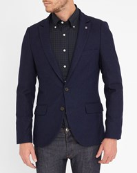 Scotch And Soda Blue 2 Buttons Wool Jacket