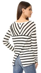 Bb Dakota Merel Striped Long Sleeve Tee Black