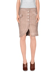 Manila Grace Denim Denim Skirts Pastel Pink