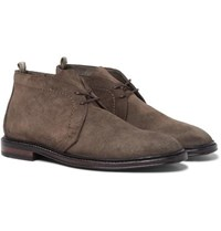 Officine Creative Cornell Suede Chukka Boots Brown
