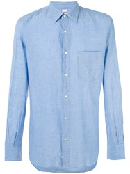 Aspesi Plain Shirt Blue