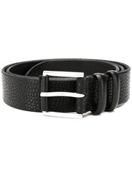 Orciani Grained Effect Belt Black