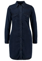 Ltb Leila Denim Dress Vesta Wash Blue Denim