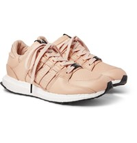 Adidas Consortium Avenue Eqt 93 16 Support Embroidered Leather Sneakers Neutral