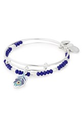 Alex And Ani Color Infusion Peacock Bangle Set Silver
