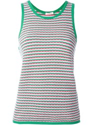 P.A.R.O.S.H. Patterned Tank Top Green