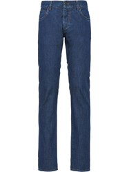 Prada Denim Bootcut Trousers Blue