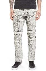 Prps Men's Big And Tall Demon Slim Straight Leg Jeans White