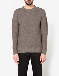 Beams Plus B Highland Wool Crew In Charcoal Grey