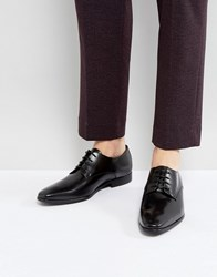 Zign Leather Lace Up Derby Shoes Black