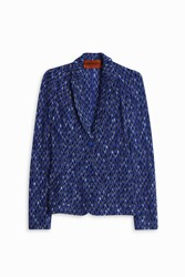 Missoni Diamond Jacket Blue