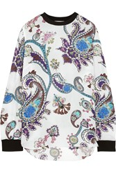 Mary Katrantzou Guyn Printed Silk Chiffon Top White