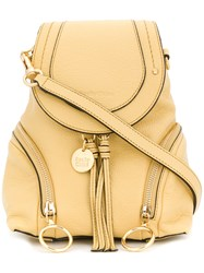See By Chloe Olga Small Grained Backpack Yellow And Orange