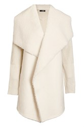 Quiz Cream Suedette Waterfall Jacket Cream