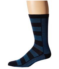 Icebreaker Lifestyle Ultra Light Cushion Crew 1 Pair Pack Admiral Equinox Heather Force Men's Crew Cut Socks Shoes Blue