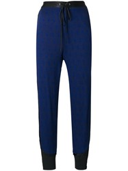 3.1 Phillip Lim Side Stripe Tapered Trousers Blue