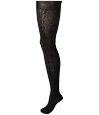 Hue Bold Cable Sweater Tights Black Hose