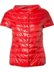Herno Glossy Quilted Jacket Red