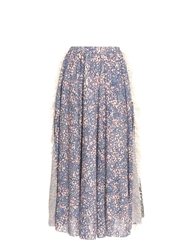 Julien David Multi Print Fringed Skirt