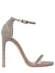 Stuart Weitzman 120Mm Nudist Glitter Fabric Sandals