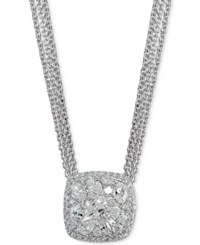 Giani Bernini Crystal Cluster Multi Chain Pendant Necklace Created For Macy's Silver