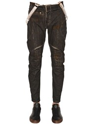 Matchless London 17Cm Waxed Cotton Biker Pants