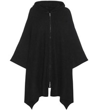 The Row Asham Cashmere And Silk Blend Poncho Black