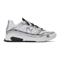 New Balance White And Silver X Racer Sneakers