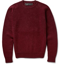 The Elder Statesman Boiled Cashmere Sweater Burgundy