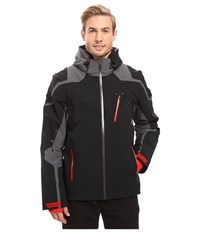 Spyder Bromont Jacket Black Polar Red Men's Coat