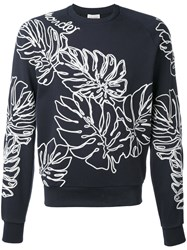 Moncler Palm Sweatshirt Men Cotton Acrylic Wool 3 Blue