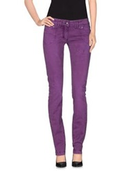One Seven Two Casual Pants Purple