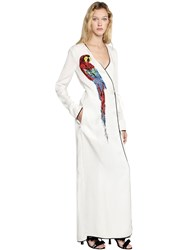Attico Raquel Cotton Toile Wrap Dress