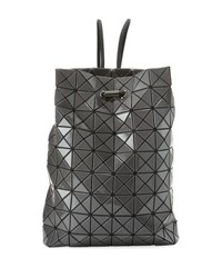 Issey Miyake Wring Faux Leather Prism Backpack Charcoal