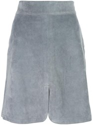 See By Chloe Front Slit Skirt Grey