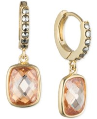 Judith Jack 10K Gold Plated Sterling Silver Crystal And Marcasite Drop Earrings