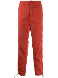 Heron Preston Side Zipped Trousers Red