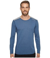Brooks Distance Long Sleeve Shirt Heather Ink Heather Sterling Men's Long Sleeve Pullover Blue