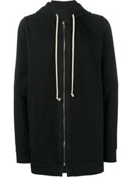 Rick Owens Long Hooded Sweatshirt Black