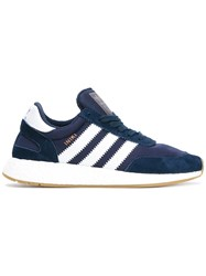 Adidas Lace Up Sneakers Suede Nylon Rubber Blue