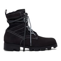 Mcq By Alexander Mcqueen Black Exodus Lace Up Boots
