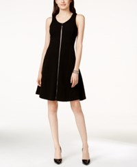 Alfani Textured Fit And Flare Sleeveless Dress Only At Macy's