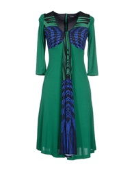 Byblos Knee Length Dresses Green
