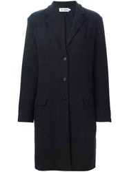 Barena Single Breasted Straight Fit Coat Black